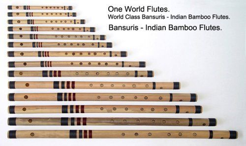 "Bansuri Bamboo Flute. D. 34"" by One World Flutes.. $75.00. Quality Bansuri, created by One World Flutes, Fort Worth, Texas, USA. This is a Right Handed Playing Flute. With 7 Finger Holes.  Note : Thread Bindings Pattern and Color may vary. Image shown is as a Example Only."