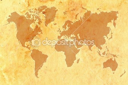 World map on aged grungy paper — Stock Image #5425277
