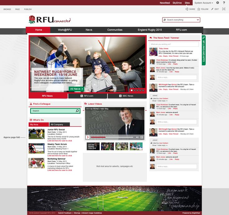 rfu intranet design murray fisher - Intranet Design Ideas