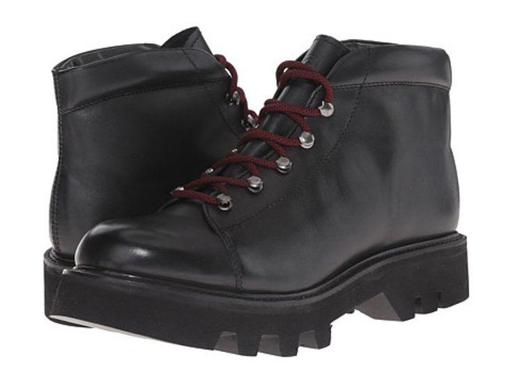 Grenson Men's Black Leather Hiker Boots