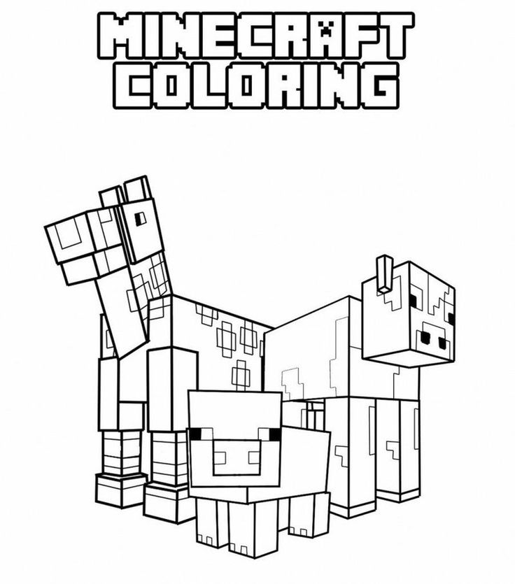 Printable Minecraft Coloring Sheet in 2020 Minecraft