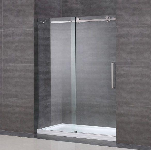 Frameless Sliding Tub Shower Doors 7 best sdr976 moselle completely frameless sliding shower door