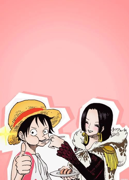 27 best images about luffy x hancock on pinterest - One piece luffy x hancock ...