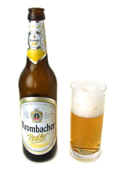 It is a German beer mixed with lemonade or sometimes soda if you get it in a bar. Its a thing in Bavaria.