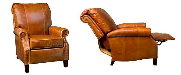 "Hanover ""Designer Style"" Plush Pillow Back Leather Reclining Chair"