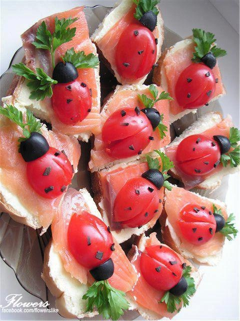 Cute ladybug tapas. I haven't tried them yet, but they are cute.