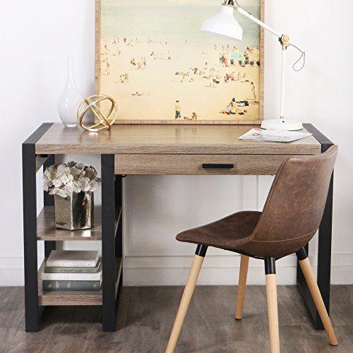 Fabulous New 48 Inch Wide Urban Blend Tech Computer Desk With Usb Interior Design Ideas Skatsoteloinfo