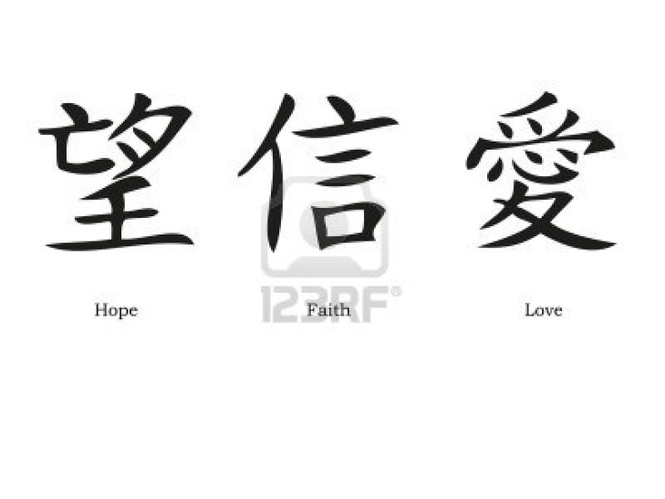 Chinese Symbols For Faith Love And Family Clipart Library