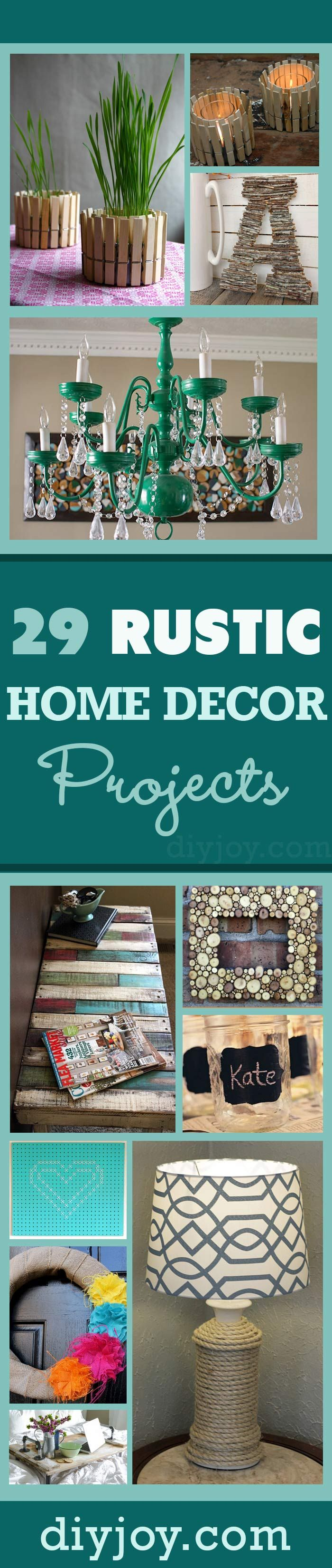 105 best diy projects images on pinterest recycling crafts and 29 rustic diy home decor ideas solutioingenieria Choice Image