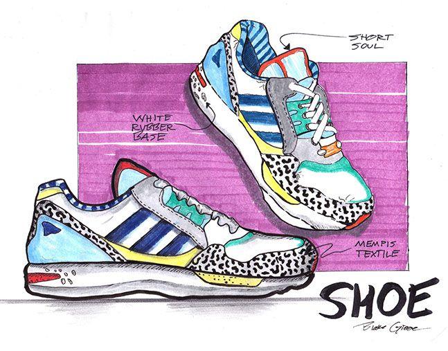 Memphis Adidas study by Blake Greene