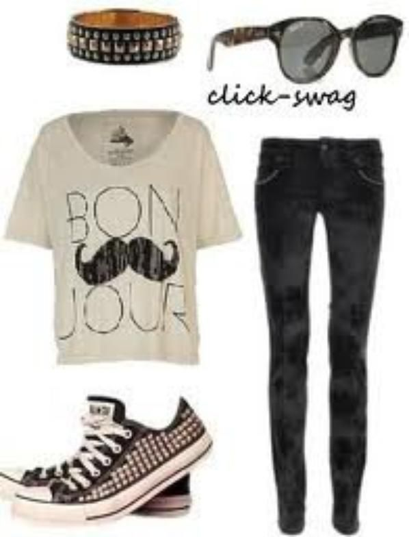 Outfit for school / tenue d\u0027ecole/college/lycee ( tee shirt à · Vetement Ado  FilleTenue SwagMode