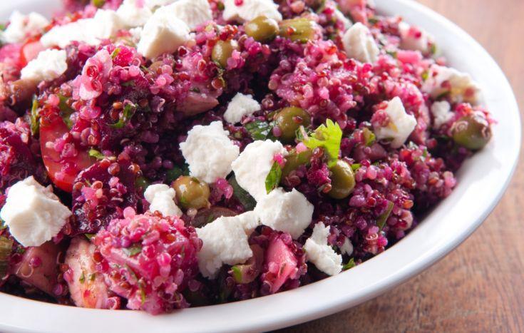 Quinoa s cviklou a Feta syrom
