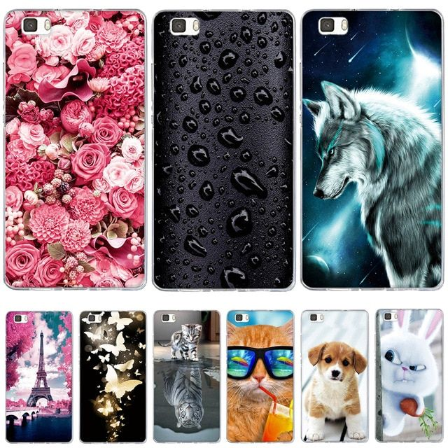 Case For Coque Huawei P8 Lite Case Cover Silicone For Capas Huawei P8 Lite 2016 Ale L21 Case Funda For Huawei P8 Lite 2015 Co Silicone Cover Cat Flowers Huawei