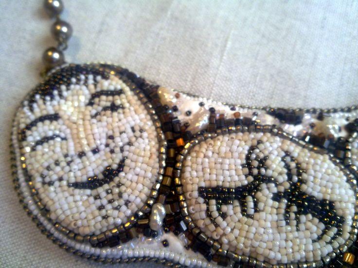 "Helen Kolomoets. Necklace ""Legends of the North"". Bead embroidery. Елена Коломоец Колье ""Легенды севера"". Вышивка бисером."