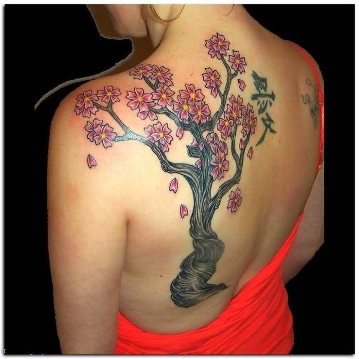 Kirschbaum Lebensbaum Tattoo
