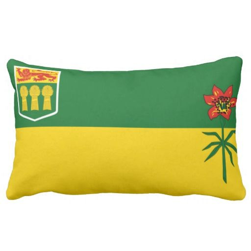 Provincial Flag Of #Saskatchewan Throw Pillows