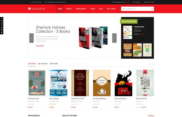 Responsive #Magento theme for #books only - JM Bookshop.  JM Bookshop is designed to show off the covers and details of each book item excellently.