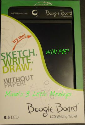 #win a Boogie Board Original 8.5 LCD eWriting Tablet! WW 7/13