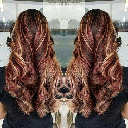 20 Long Curly Hair Color Ideas Hair Style Burgundy Hair Curly