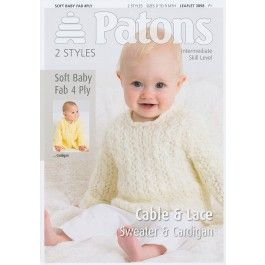 Sweater+&+Cardigan+in+Patons+Soft+baby+Fab+4+Ply+(3898)+£2.99