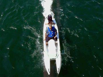 W700 Motorized fishing kayak