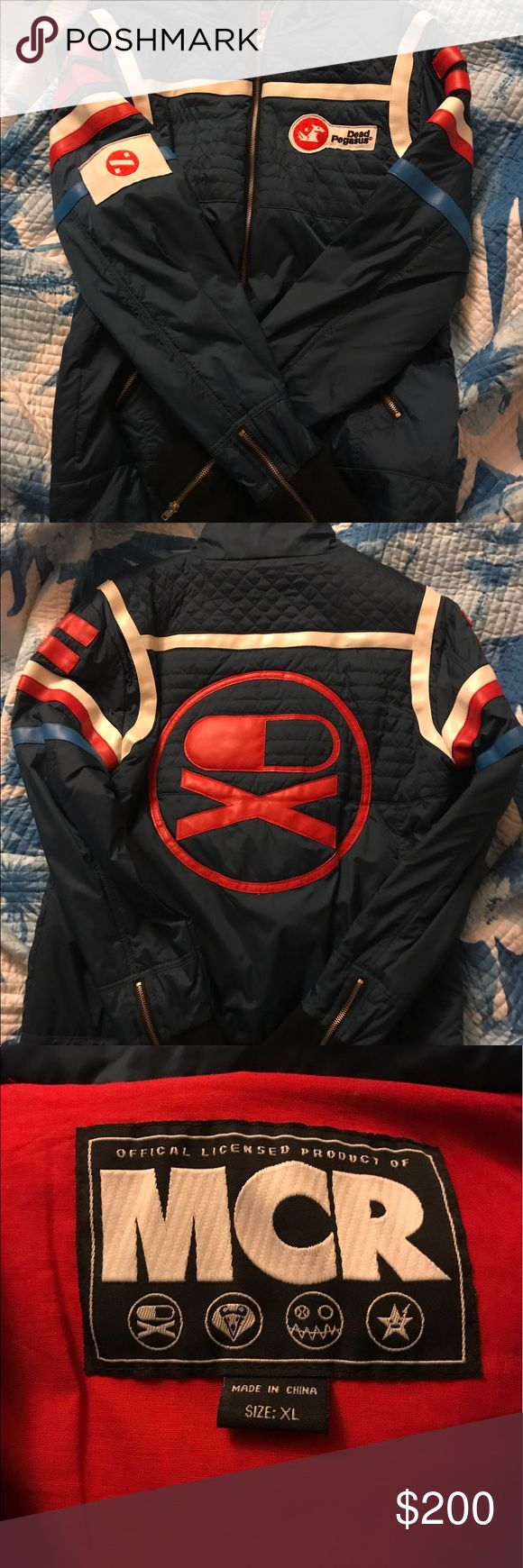 My chemical romance party poison jacket Extremely rare my chemical romance danger days jacket. Gerard Way Party Poison style. This is an officially licensed product. Perfect for every day wear or cosplay. I love this jacket but I need to sell it for money for a car. There are some flaws. The threading in the front of the jacket are coming loose in some areas. There are 2 small pinhole marks. Some loose threads on some of the badges. See photos for all flaws. There were only a small amount of…