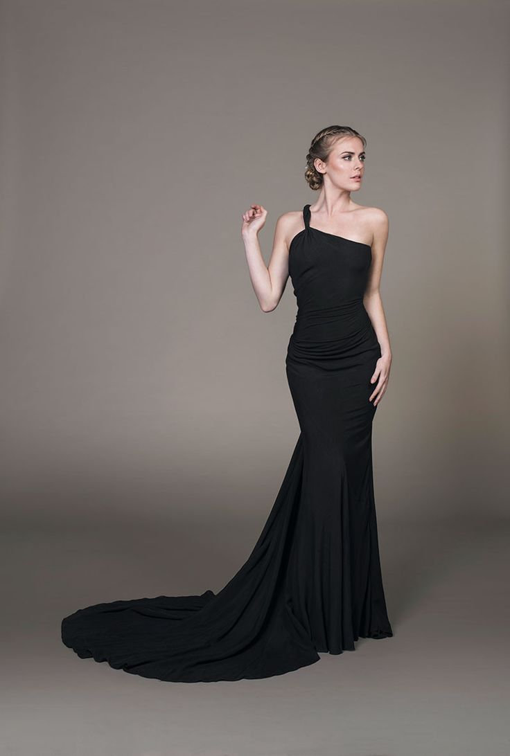 Kate evening gown- Loomed organic bamboo evening dress with with a fishtail silhouette  and asymmetric neckline by eco bridal designer Sanyukta Shrestha.
