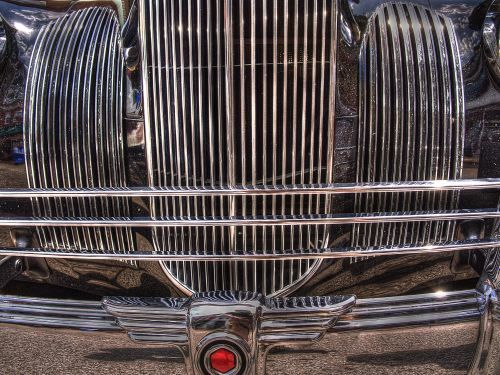 Grill from antique car show