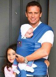 Hug-a-Bub Organic Pocket Baby Wrap Carrier - Byron Blue