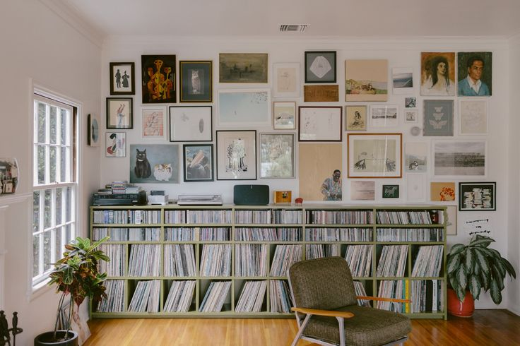 CD and vinyl record collection