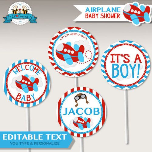 Best 25 airplane baby room ideas on pinterest airplane for Airplane baby shower decoration ideas