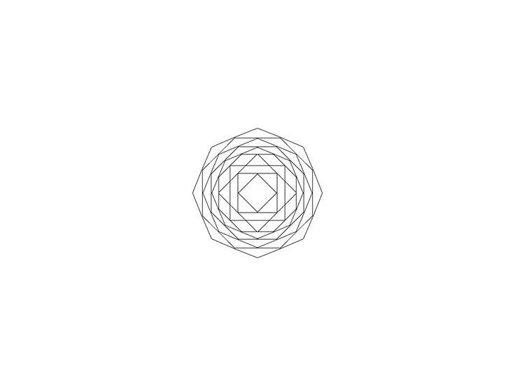 Blackwork mandala Flower design inspiration. Geometric linework.