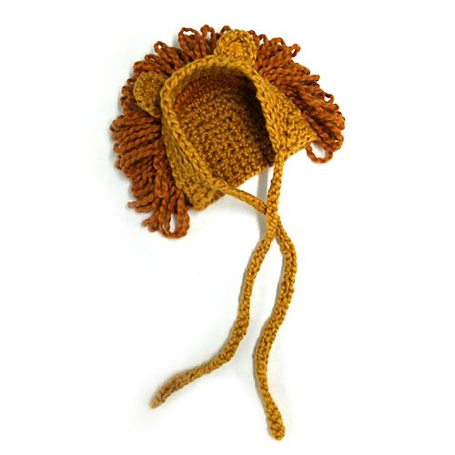 Let your little one be the king of the jungle! Make this fun circus-inspired hat for Halloween! Pair it with our adult Lion Tamer Hat for a parent/child costume idea! (Lion Brand Yarn)
