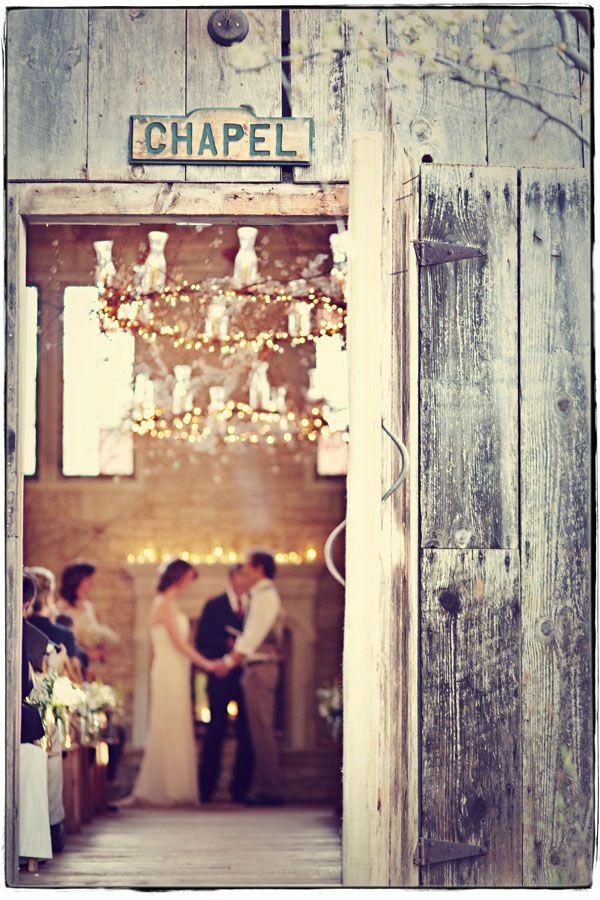 7. A lovely location #modcloth #weddingIdeas, Chapel Wedding, Love Photos, Photos Effects, Country Wedding, Get Married, Barns Wedding, Barns Dance, Rustic Wedding