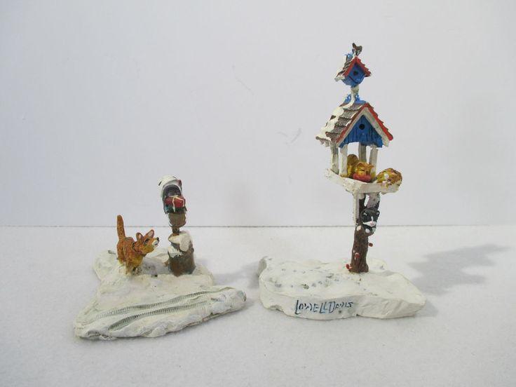 Ertl Collectables Farm Country Christmas Mailbox Bird Feeder Lowell Davis Set 2