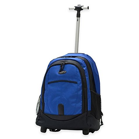 Olympia® Delta 19-Inch Rolling Backpack in Blue