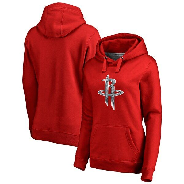 Houston Rockets Fanatics Branded Women S Static Logo Pullover Hoodie Red Houstonrockets Red Hoodie Hoodies Pullover Hoodie