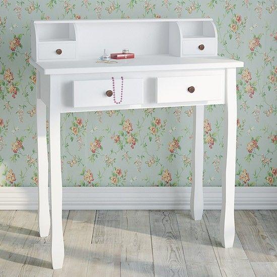 Kaptafel Jolie - Inspiratie / ideeën voor in huis (interieur).  - Kaptafel  / Make up tafel   - Elegante stijl  - Ruimte om je make-up, sieraden en meer op te bergen (stijlvol organiseren en opbergen