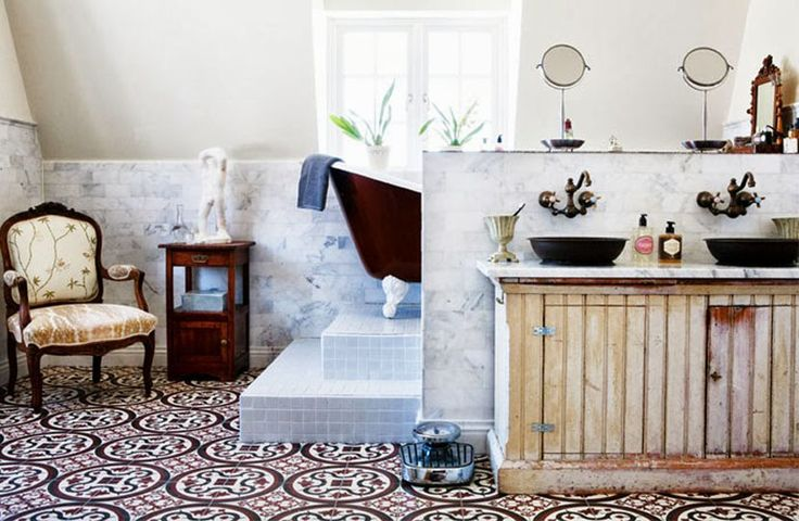 #excll #дизайнинтерьера #решения французское ретро в ванной