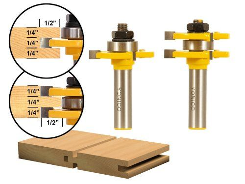 Yonico 15221 Matched Tongue AND Groove Router BIT SET 1 2 Inch Shank NEW | eBay