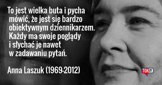 Dziś mijają 4 lata od śmierci naszej redakcyjnej koleżanki Ani Laszuk. #TOKFM #radiotokfm #radio #AnnaLaszuk #Laszuk #TOKFM