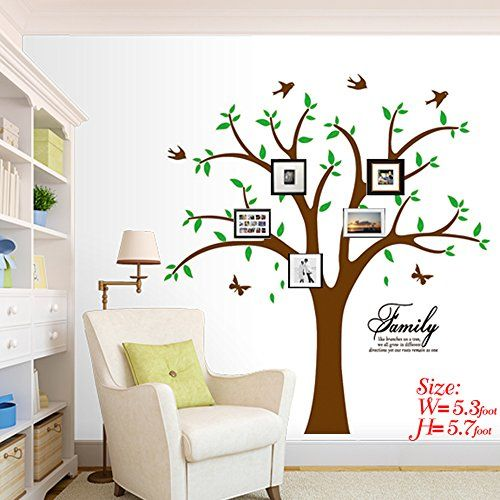 Family Photo Tree Wall Decal Stickers Living Room Home Bed Baby Decals
