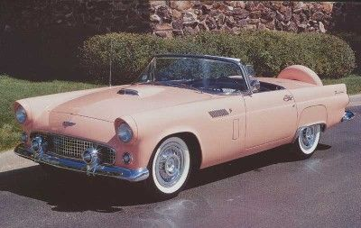 1956 ford thunderbird. My dream car. Give me pink or sunset coral, please with the Continental kit!