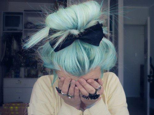Sin duda el mejor color de cabello es el azul