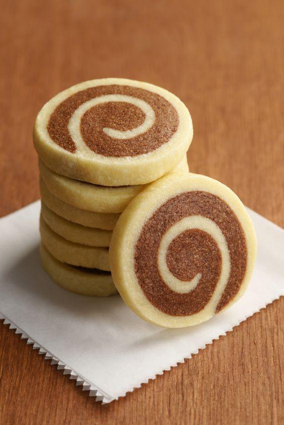 Sablés Escargots au Chocolat et à la Vanille