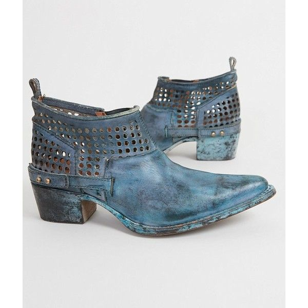 Corral Laser Cut Boot ($216) ❤ liked on Polyvore featuring shoes, boots, ankle booties, laser cut boots, vintage boots, short boots, vintage booties and corral boots