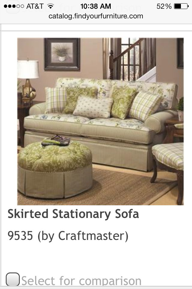 My 2nd Option For Living Room Furniture Craftmaster Stationary Sofa