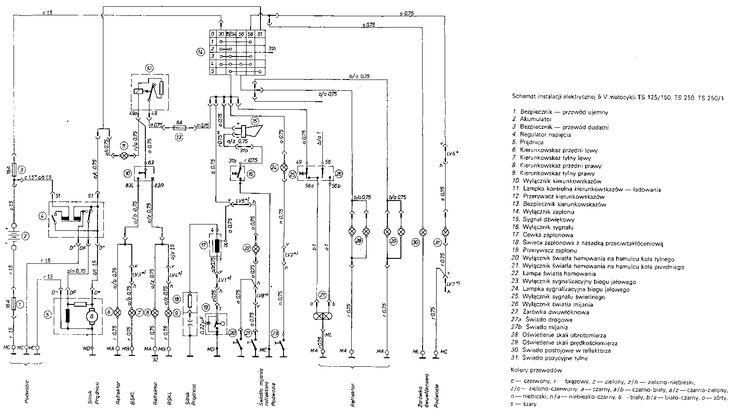 MZ SCHEMAT INSTALACJI 6 V TS125 150 TS 250 TS 250-1