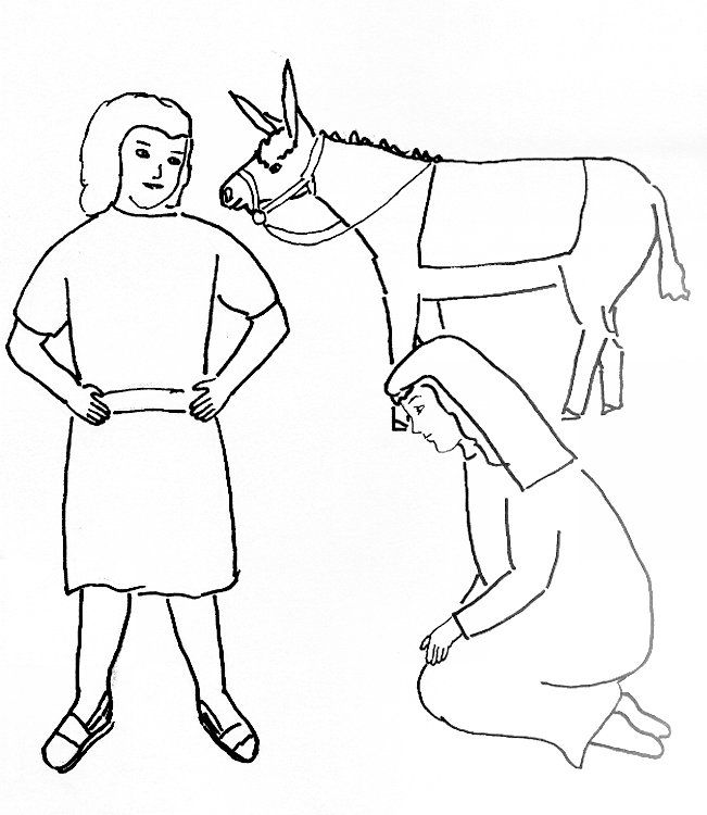Bible Story Coloring Page For David And Abigail Coloring Pages