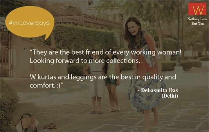 """Debasmita loves the #Wcollection & says """"They are every working woman's best friend."""" What do you say? Share with us here : http://bit.ly/wreview"""